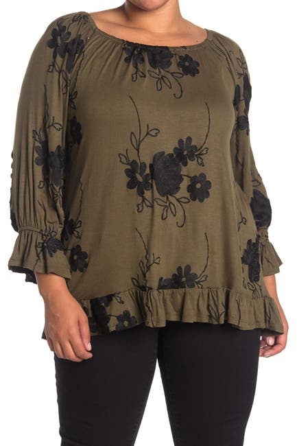 Image of Forgotten Grace Embroidered Peasant Top