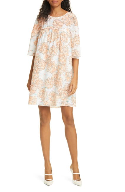Image of DYVNA Floral Silk Minidress