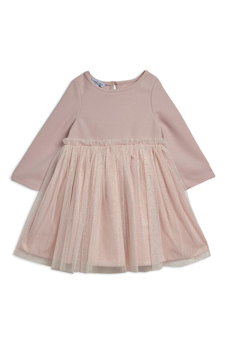 PIPPA & JULIE Tulle Ballerina Dress, Main, color, BLUSH