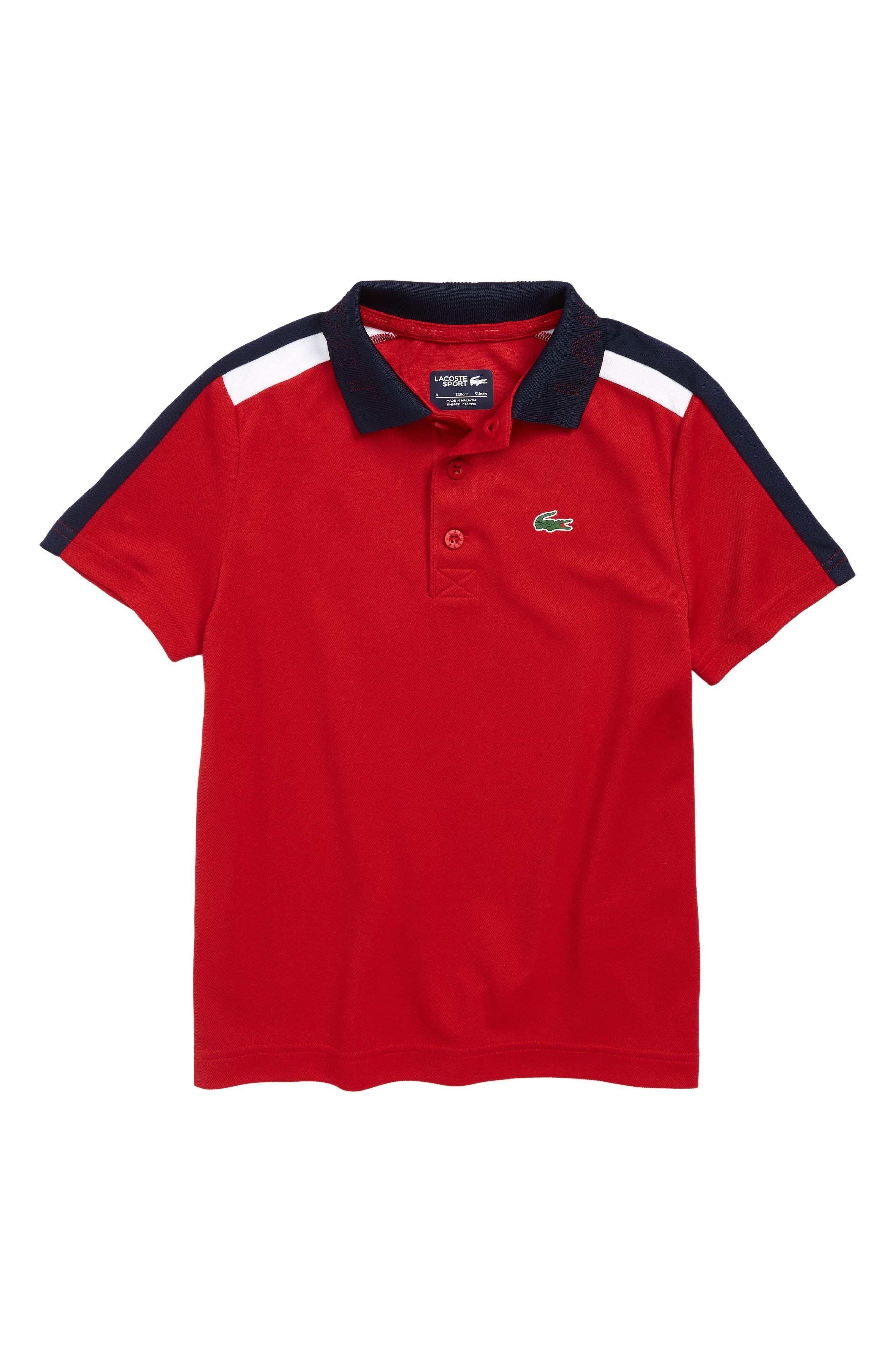 Boys Lacoste Colorblock Tennis Polo Size 4Y  White