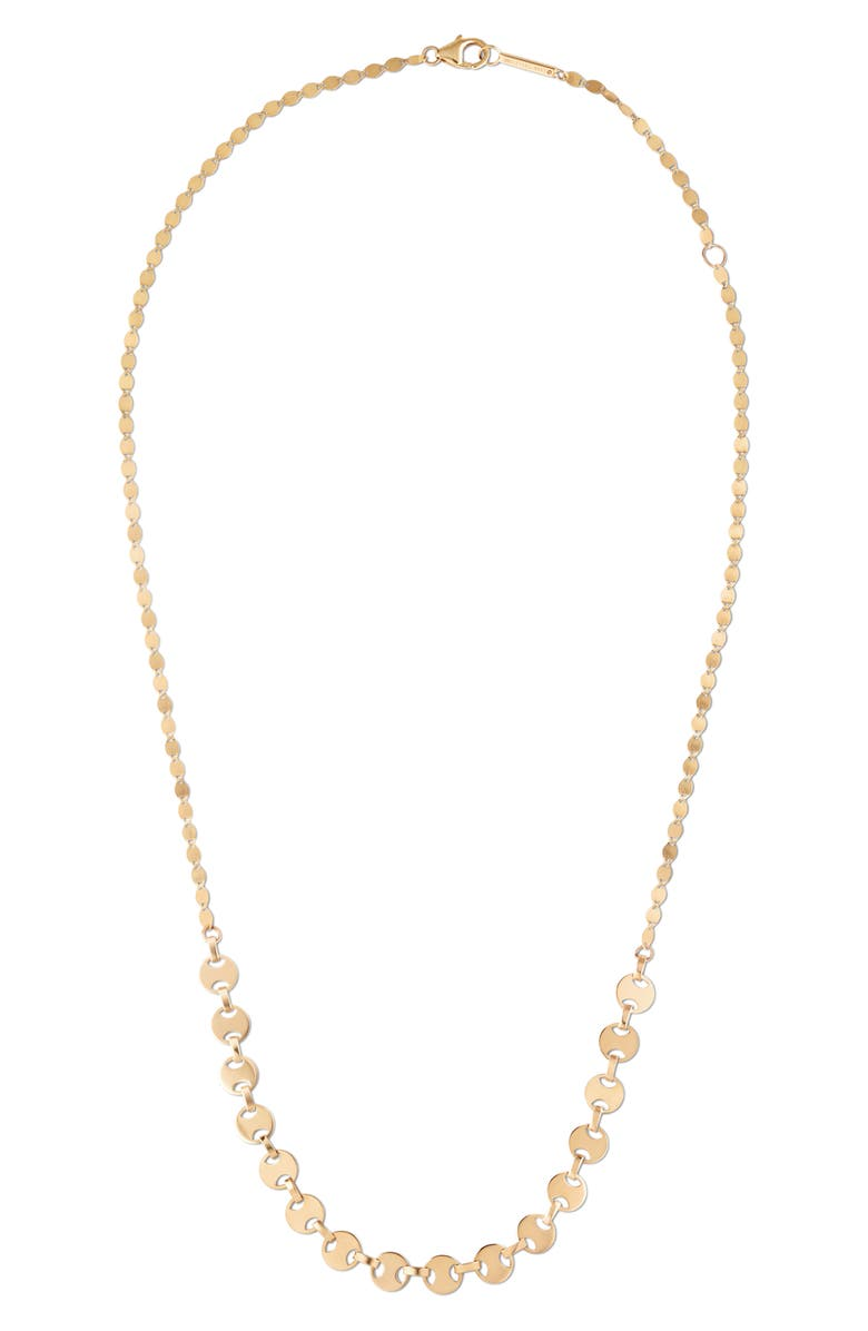 LANA JEWELRY Small Flat Nude Necklace, Main, color, YELLOW GOLD