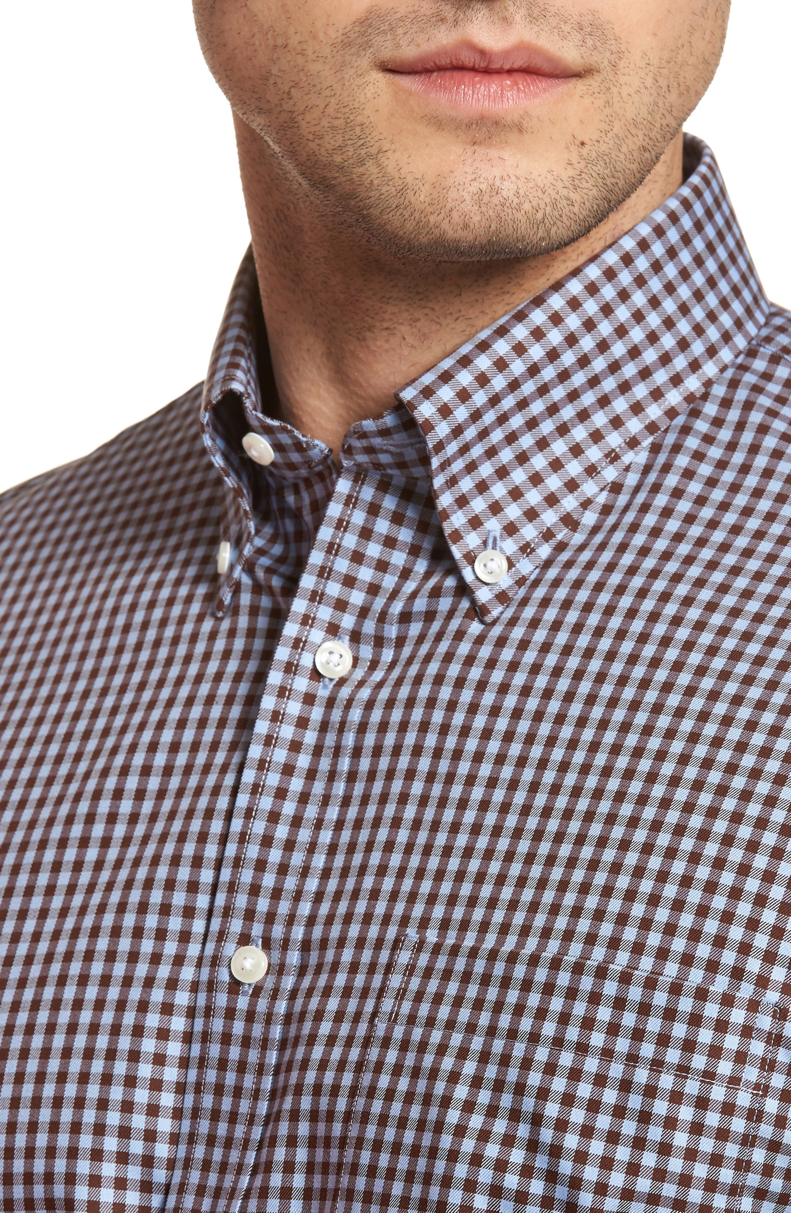 ,                             Traditional Fit Non-Iron Gingham Dress Shirt,                             Alternate thumbnail 42, color,                             211