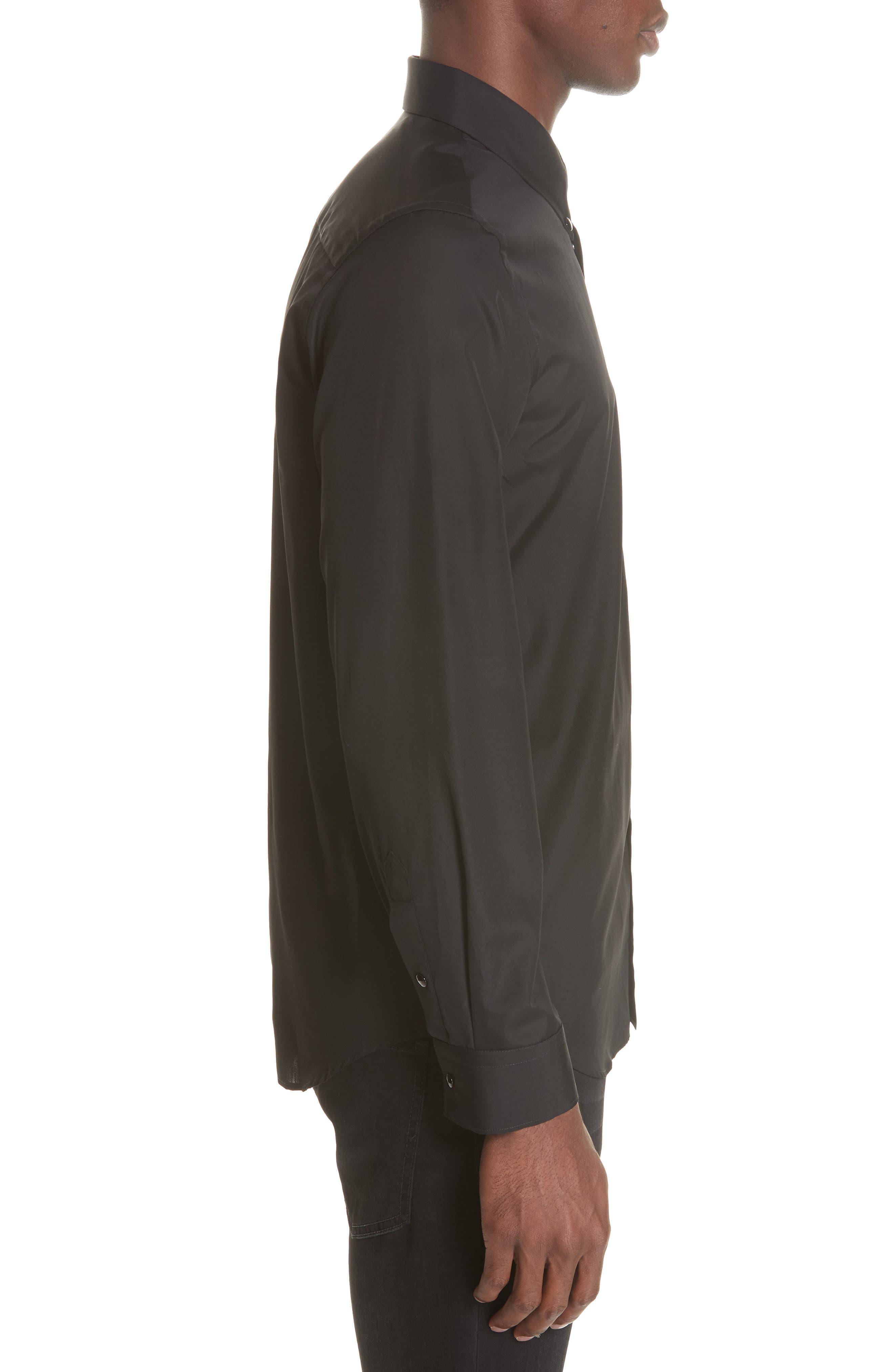 ,                             Woven Shirt,                             Alternate thumbnail 4, color,                             BLACK