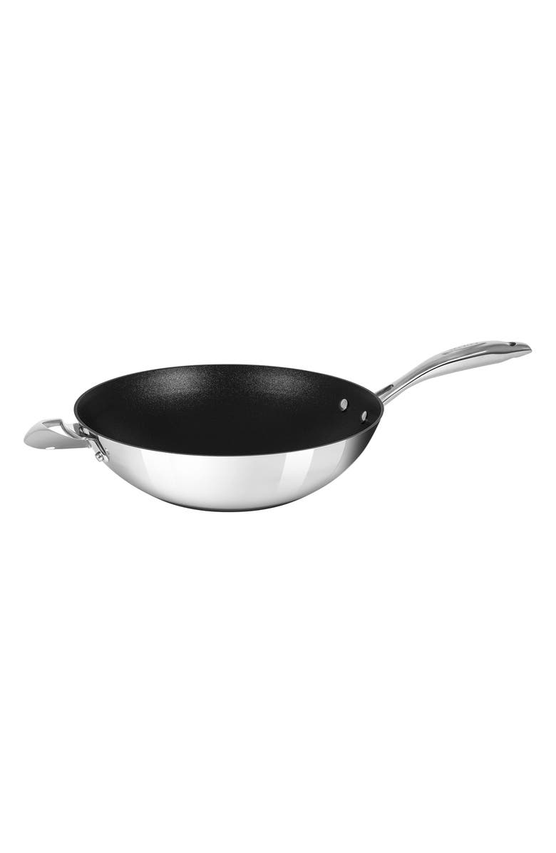 SCANPAN HaptIQ 12.5-Inch Stainless Steel Wok, Main, color, SILVER