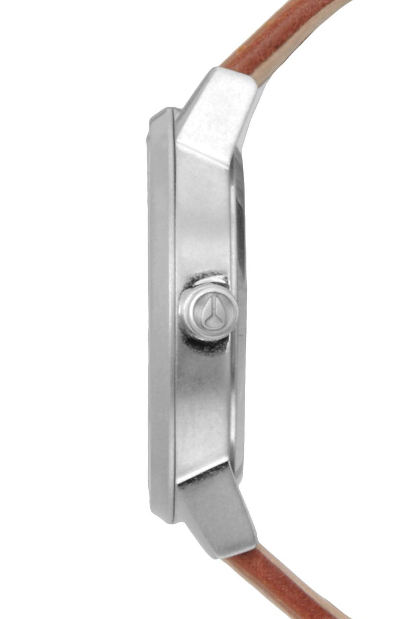 ,                             'The Kensington' Leather Strap Watch, 37mm,                             Alternate thumbnail 8, color,                             250