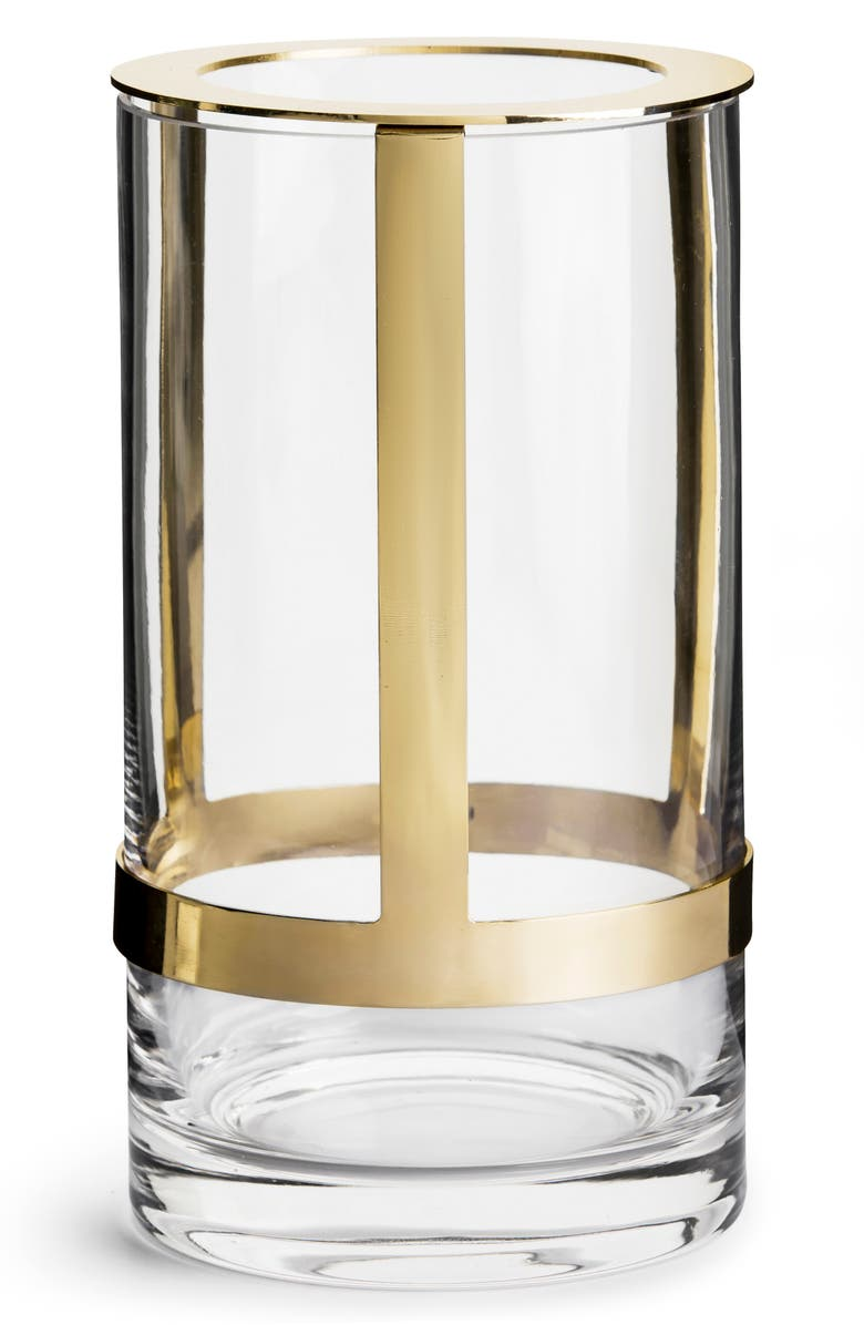 SAGAFORM Hold Adjustable Vase, Main, color, CLEAR/ GOLD