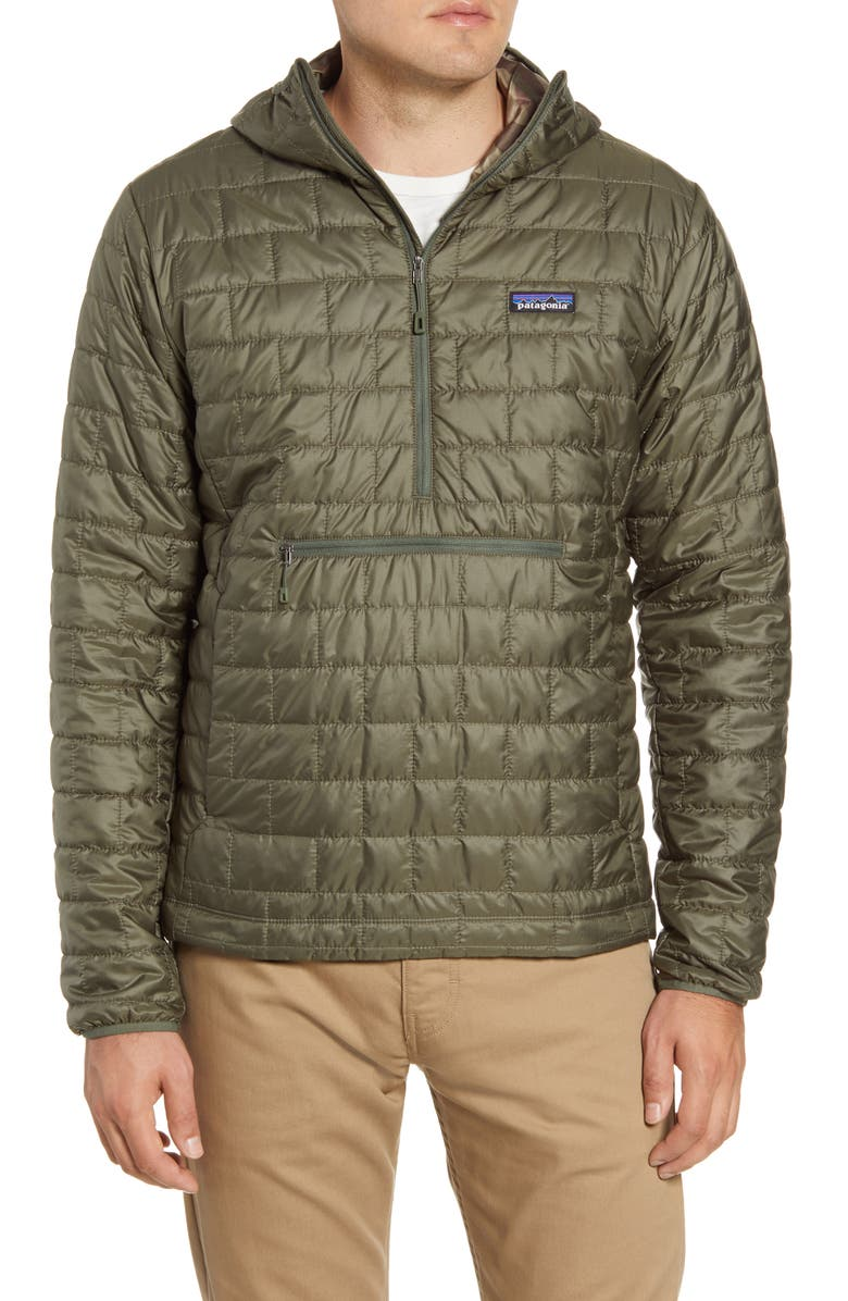 PATAGONIA Nano Puff<sup>®</sup> Bivy Regular Fit Water Resistant Jacket, Main, color, INDUSTRIAL GREEN