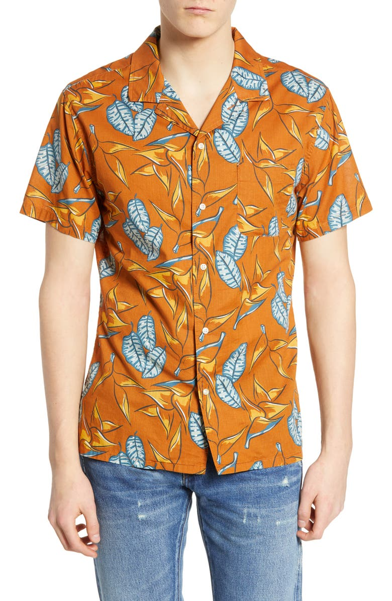 LIFE/AFTER/DENIM Daintree Regular Fit Cotton Shirt, Main, color, COPPERTONE