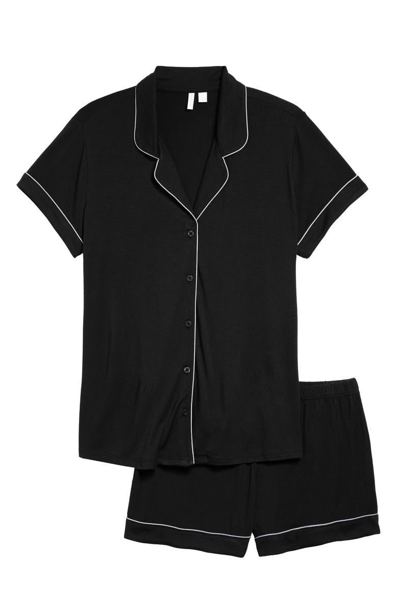 NORDSTROM Moonlight Dream Short Pajamas, Main, color, BLACK