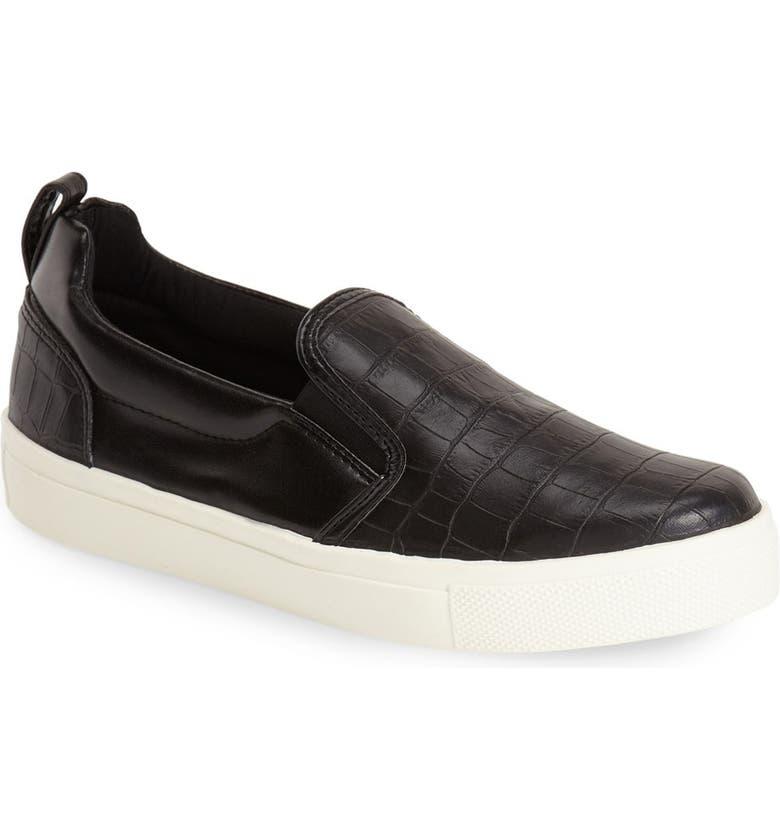 TOPSHOP 'Tank' Slip-On Sneaker, Main, color, Black