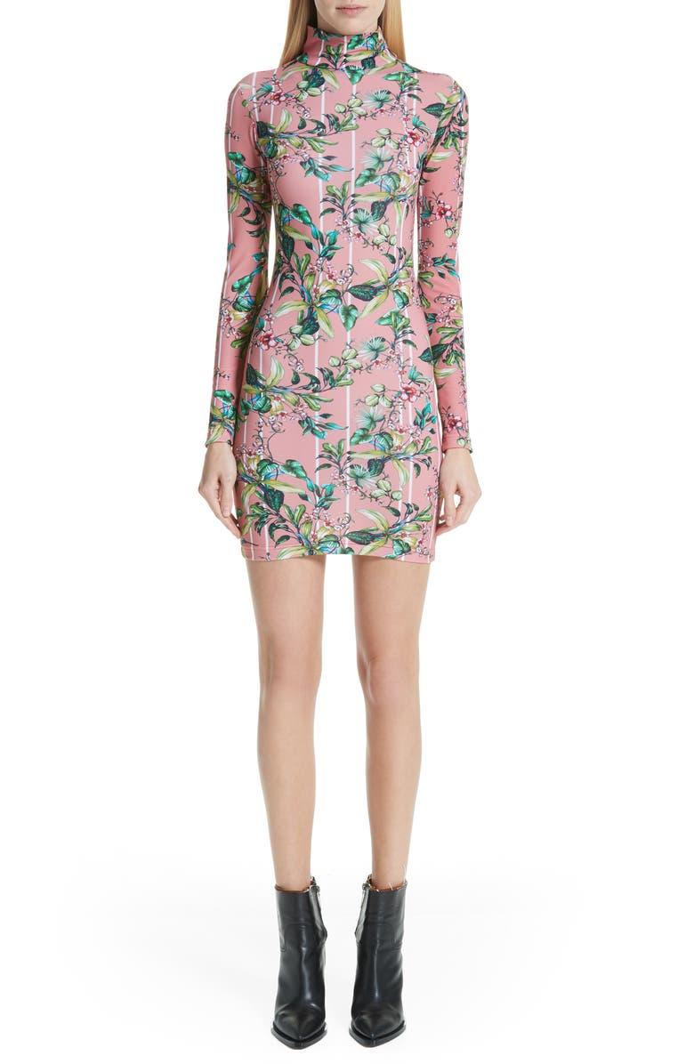 VETEMENTS Floral Print Body-Con Dress, Main, color, 650