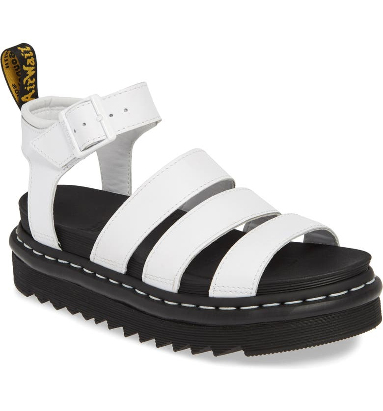 DR. MARTENS Blaire Sandal, Main, color, WHITE SOFTY LEATHER