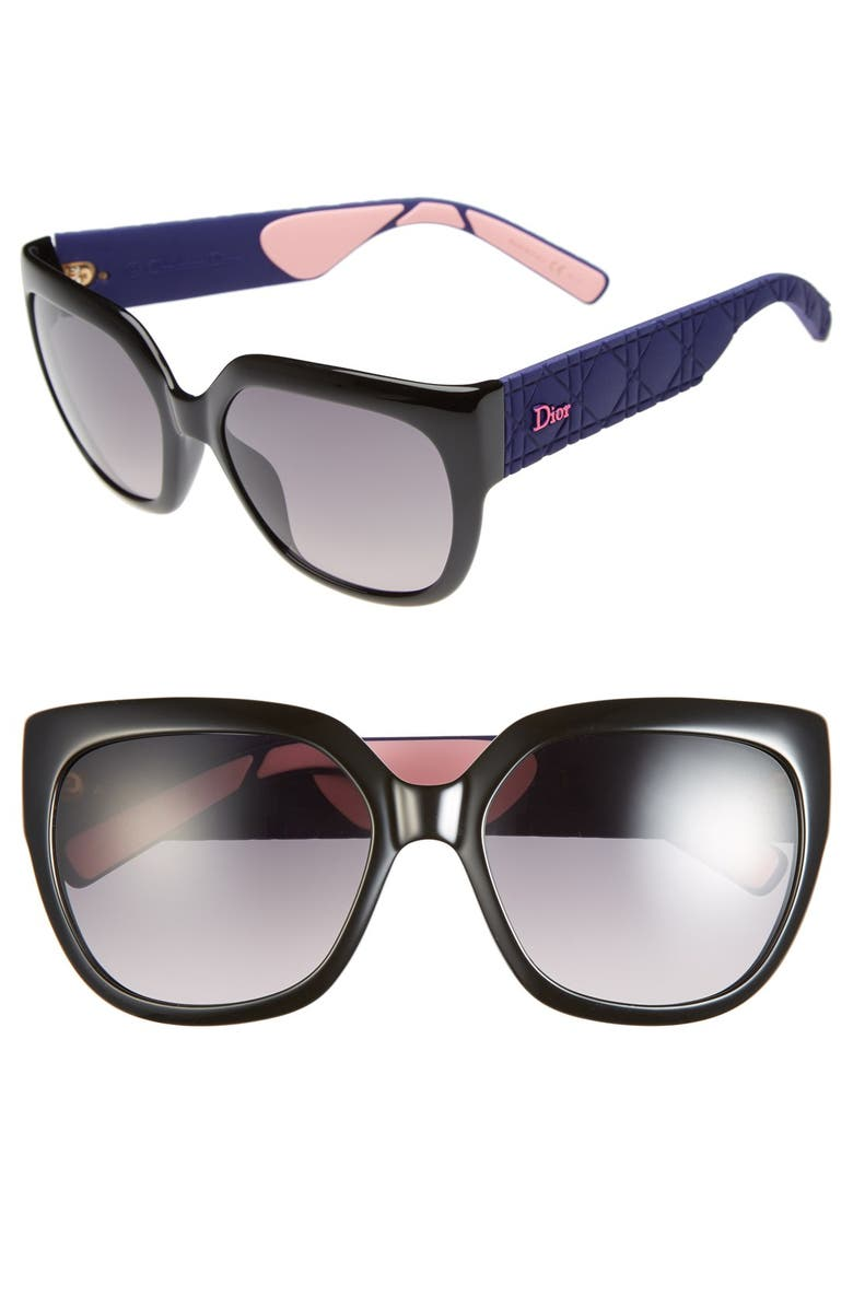 DIOR 'My Dior 3 R' 57mm Oversized Sunglasses, Main, color, 001