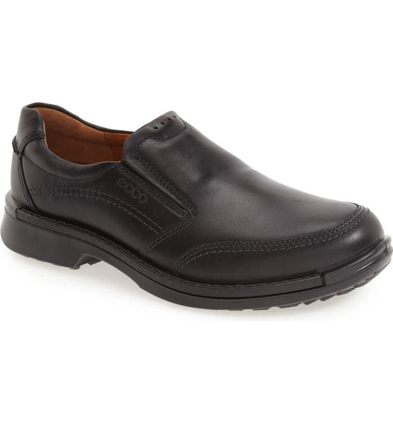 ECCO 'Fusion II' Slip-On, Main, color, BLACK LEATHER