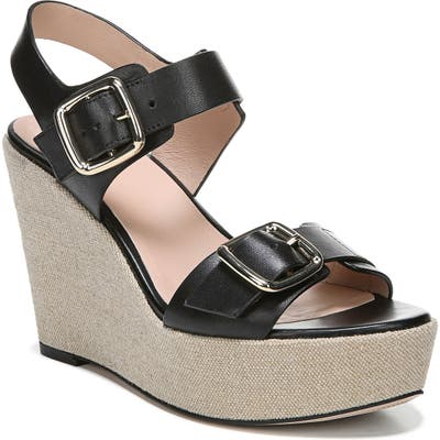 27 Edit Cait Wedge Sandal, Black