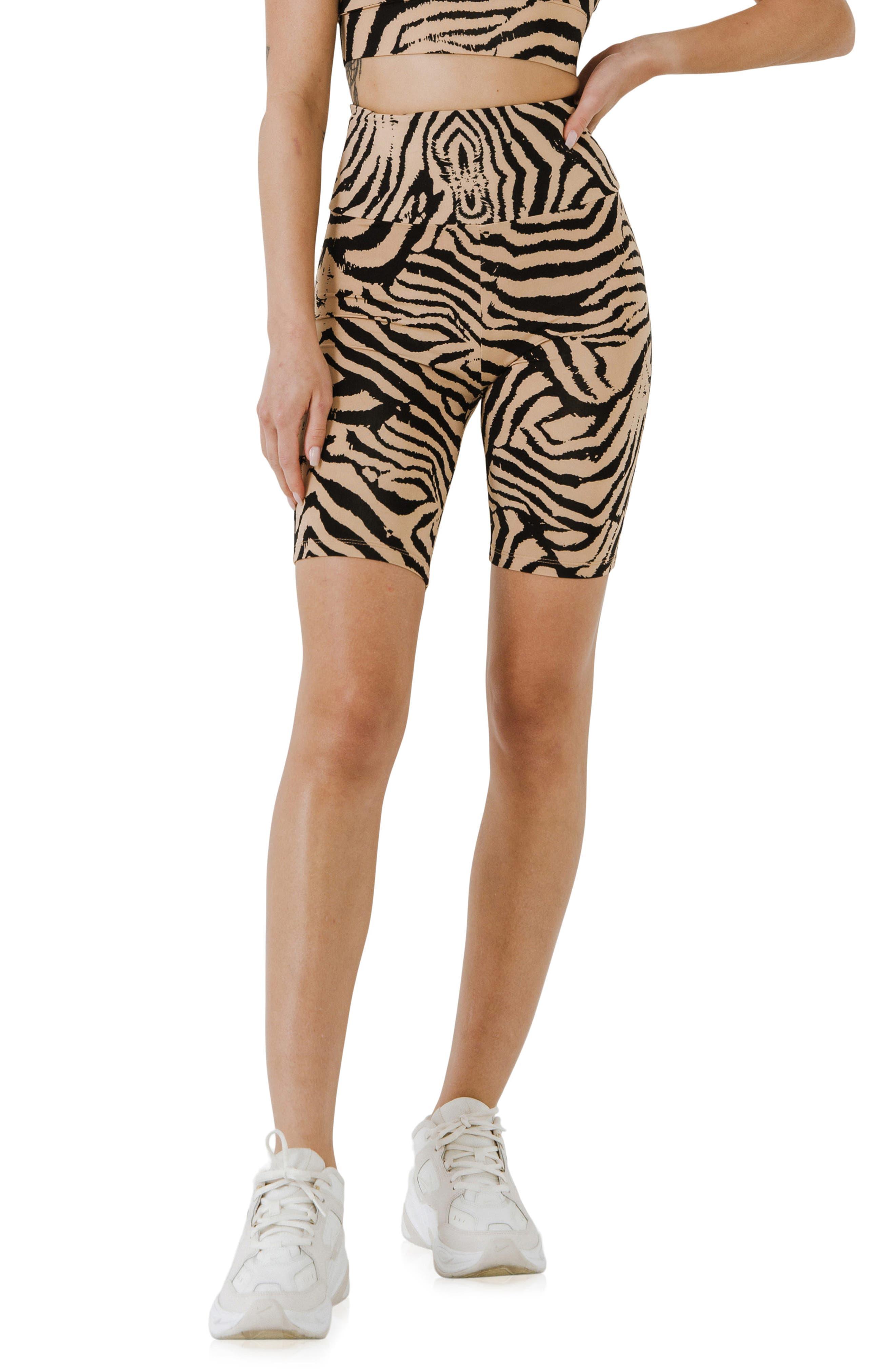 Animal Print Biker Shorts