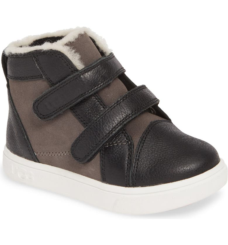 UGG<SUP>®</SUP> Rennon High Top Sneaker, Main, color, BLACK/ GREY