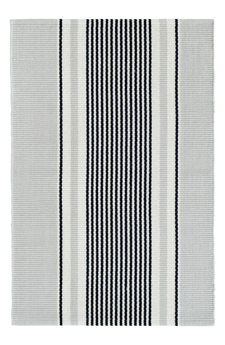 DASH & ALBERT Gunner Stripe Woven Cotton Rug, Main, color, BLUE