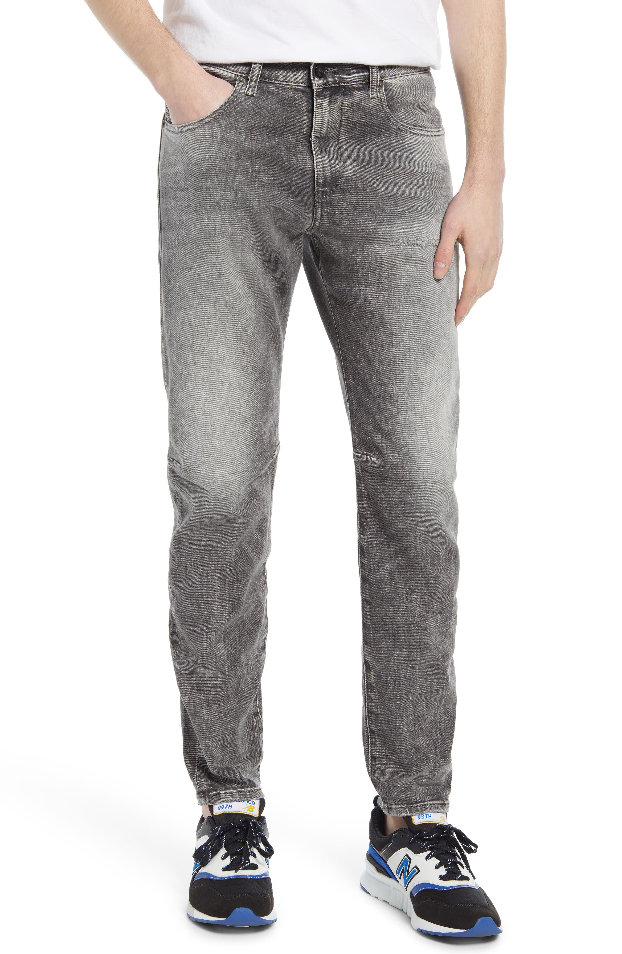 Men's Diesel D-Strukt Ripped Slim Fit Jeans