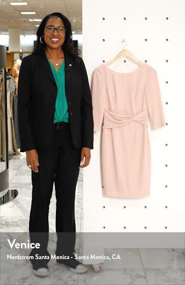 Bateau Neck Sparkle Sheath Dress, sales video thumbnail