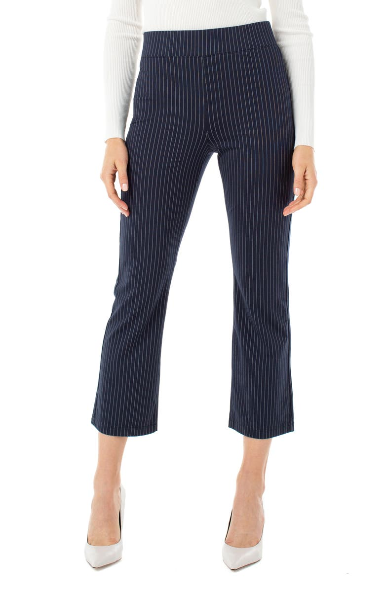 LIVERPOOL Stella Stripe Pull-On Kick Flare Pants, Main, color, 440