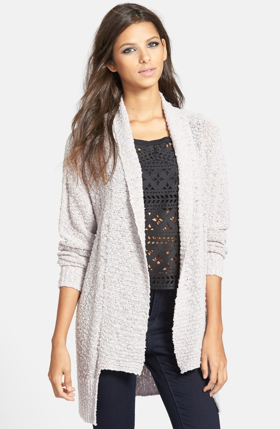 ,                             Textured Open Front Cardigan,                             Main thumbnail 7, color,                             030