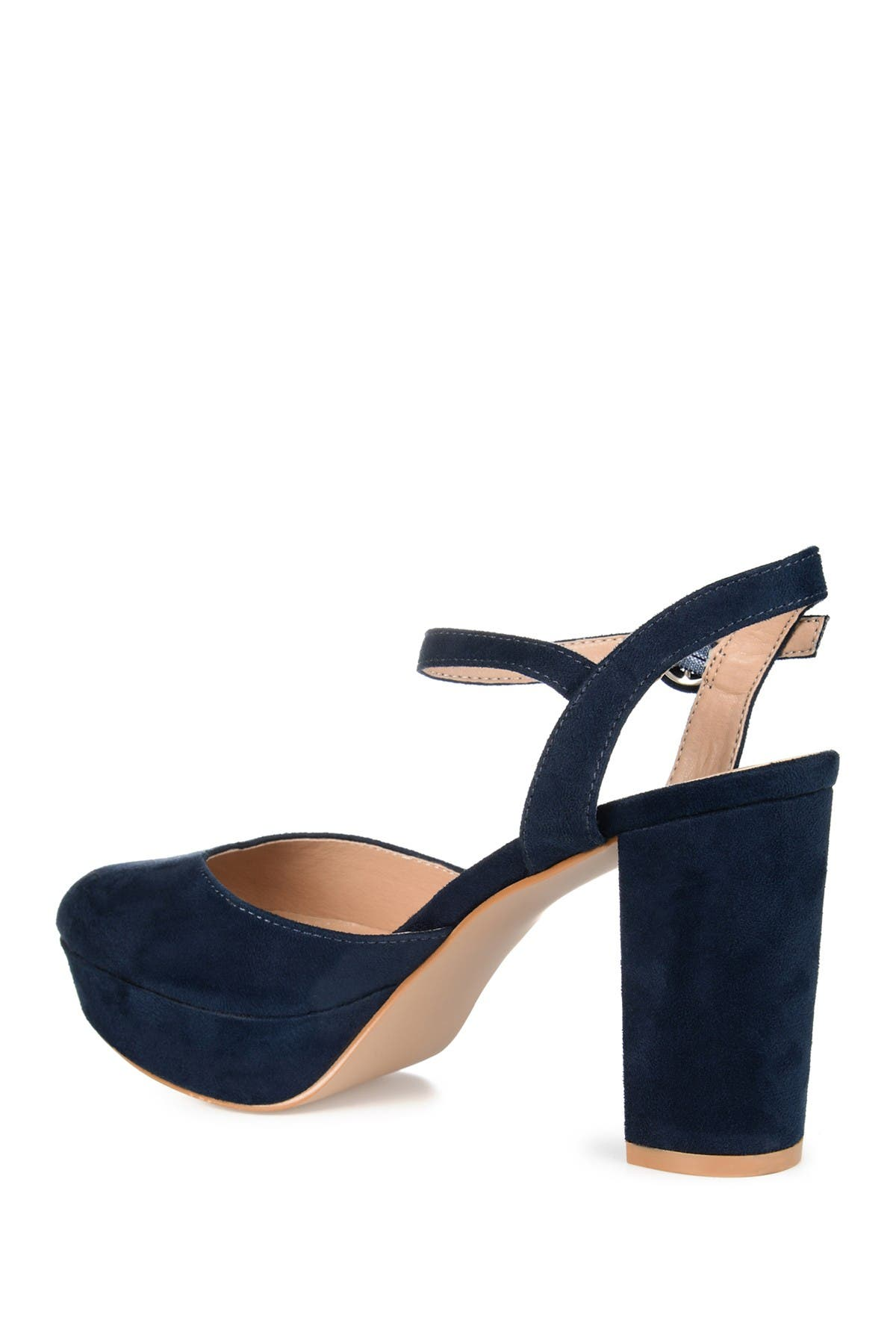 Image of JOURNEE Collection Roslynn Almond Toe Pump