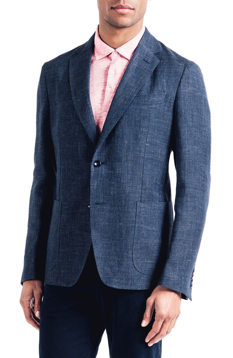 GOOD MAN BRAND Downtown Slim Linen & Wool Sport Coat, Main, color, 410