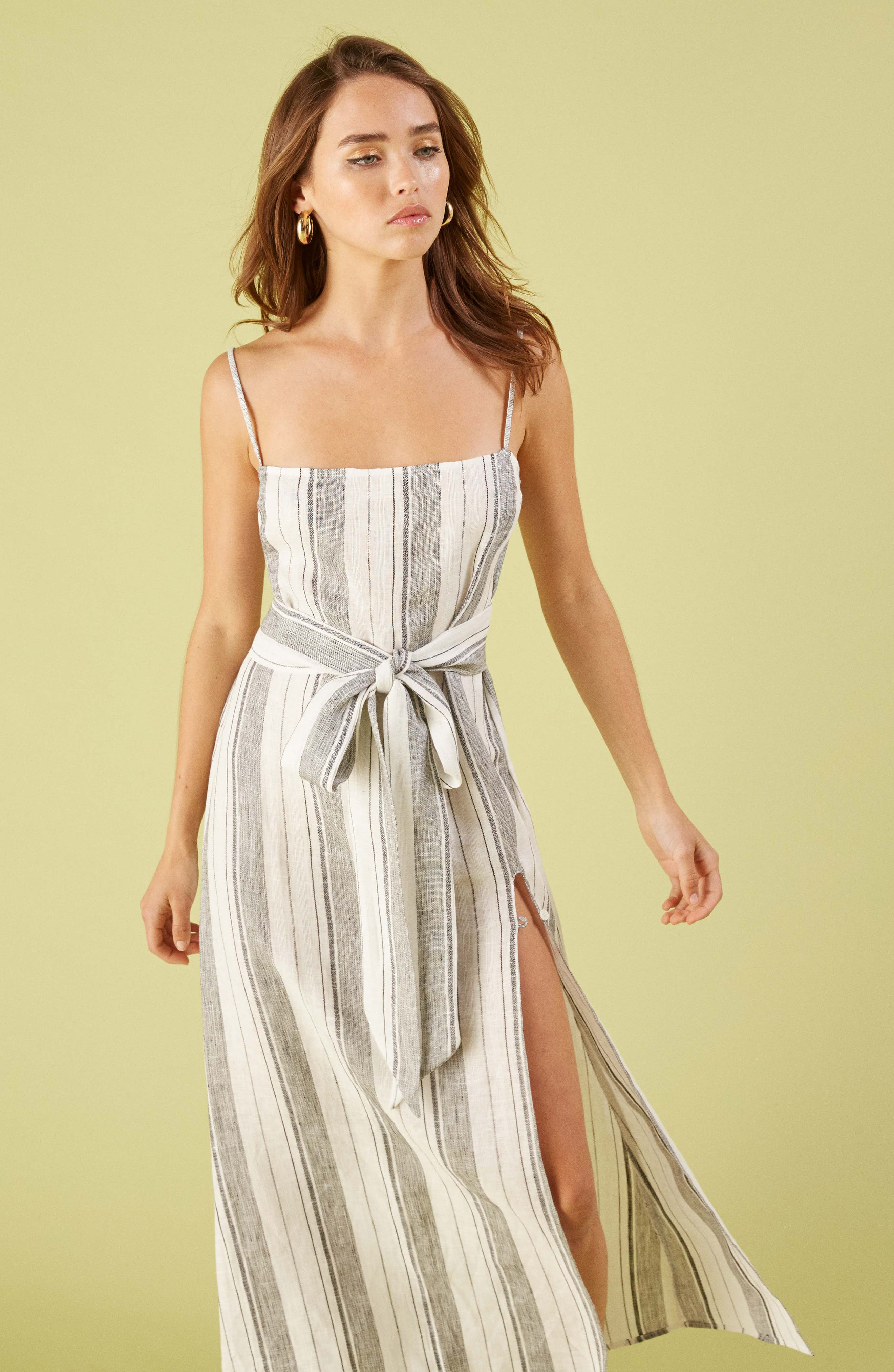 ,                             Pineapple Maxi Dress,                             Alternate thumbnail 6, color,                             LOUSIANA STRIPE