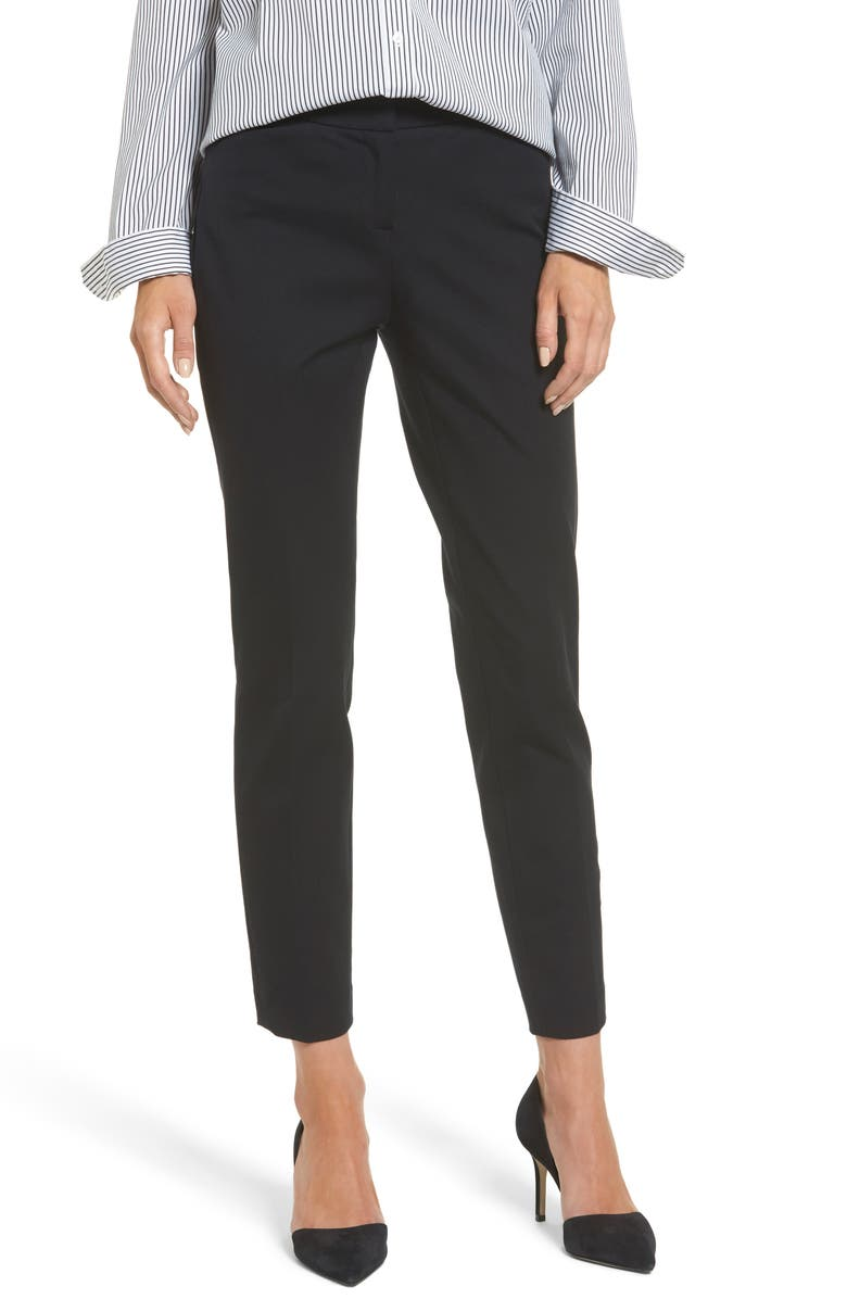 HALOGEN<SUP>®</SUP> Ankle Pants, Main, color, BLACK