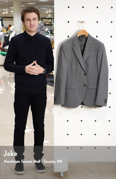 Jamonte Trim Fit Solid Wool Sport Coat, sales video thumbnail