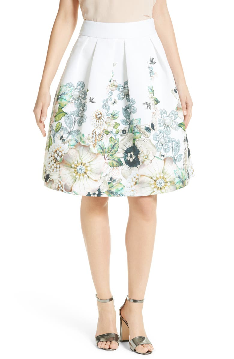 TED BAKER LONDON Miolla Full Skirt, Main, color, 905