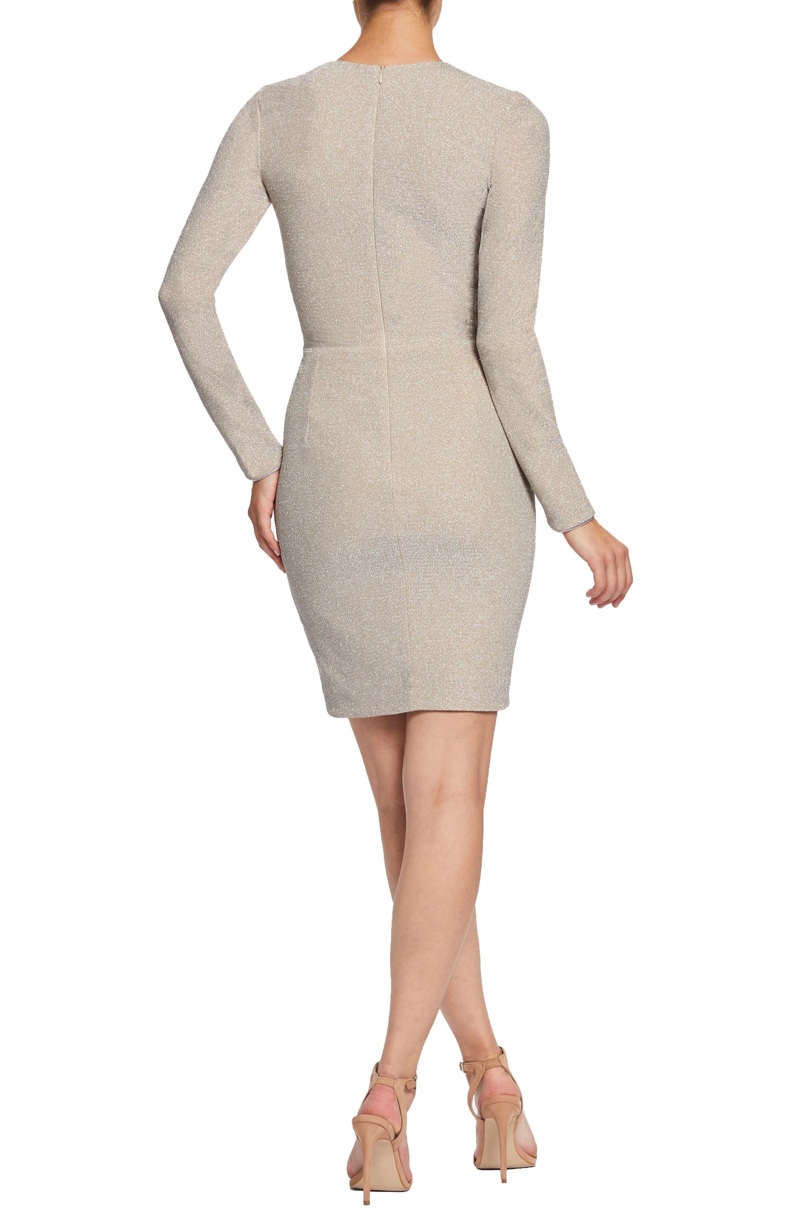 ,                             Riley Plunge Neck Metallic Sheath Dress,                             Alternate thumbnail 7, color,                             040