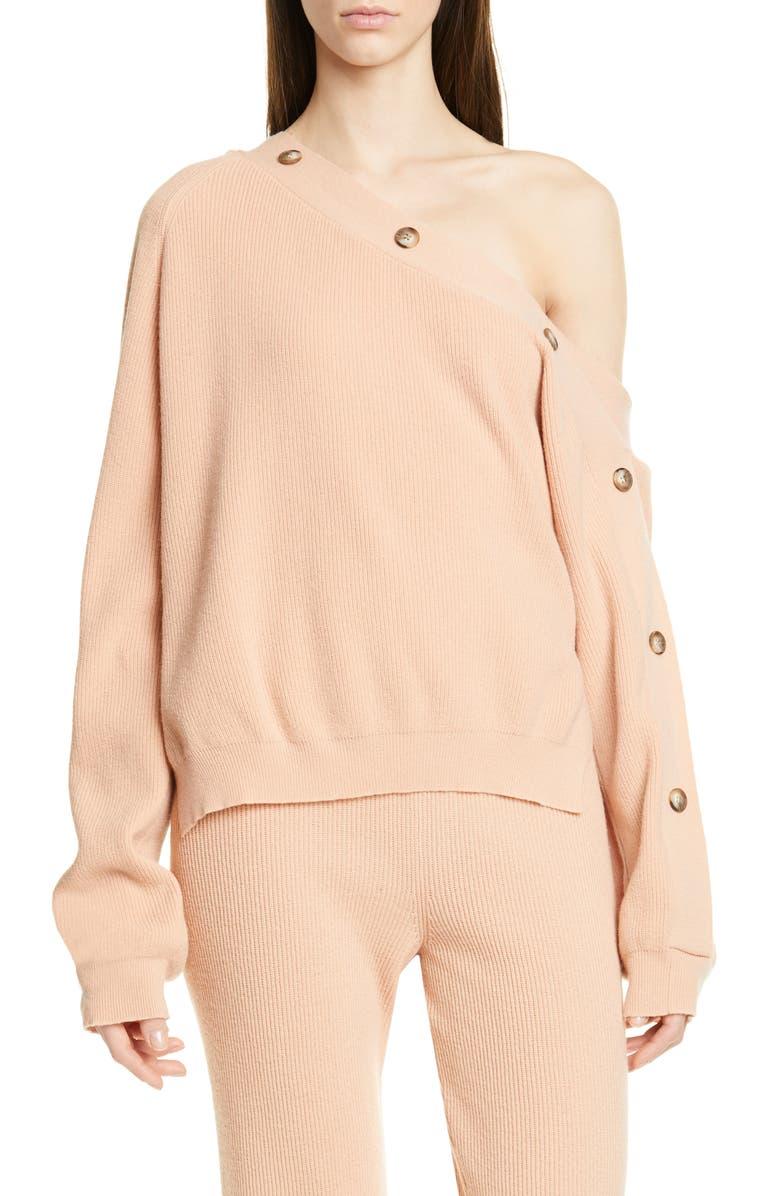 NANUSHKA Camerin One-Shoulder Sweater, Main, color, APRICOT
