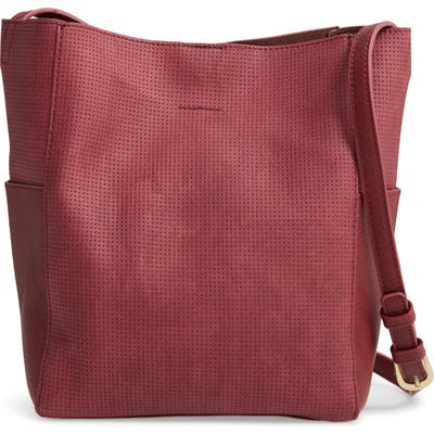 Bp. Faux Leather Mini Crossbody Bag - Burgundy