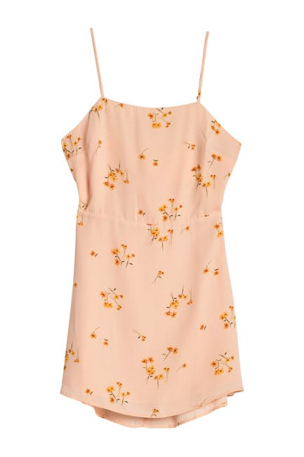 Image of Lumiere Floral Back Tie Cutout Mini Dress