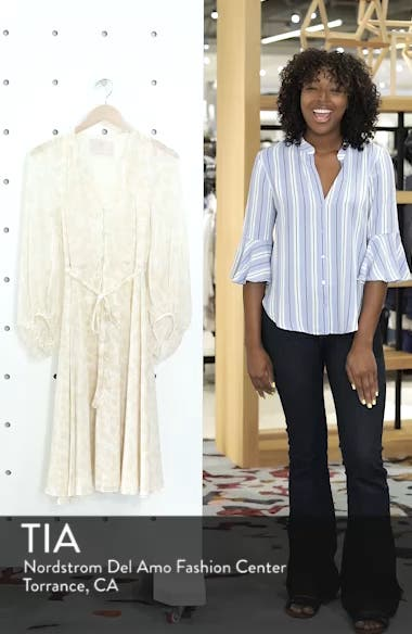 Esther Shadow Branch Chiffon Dress, sales video thumbnail
