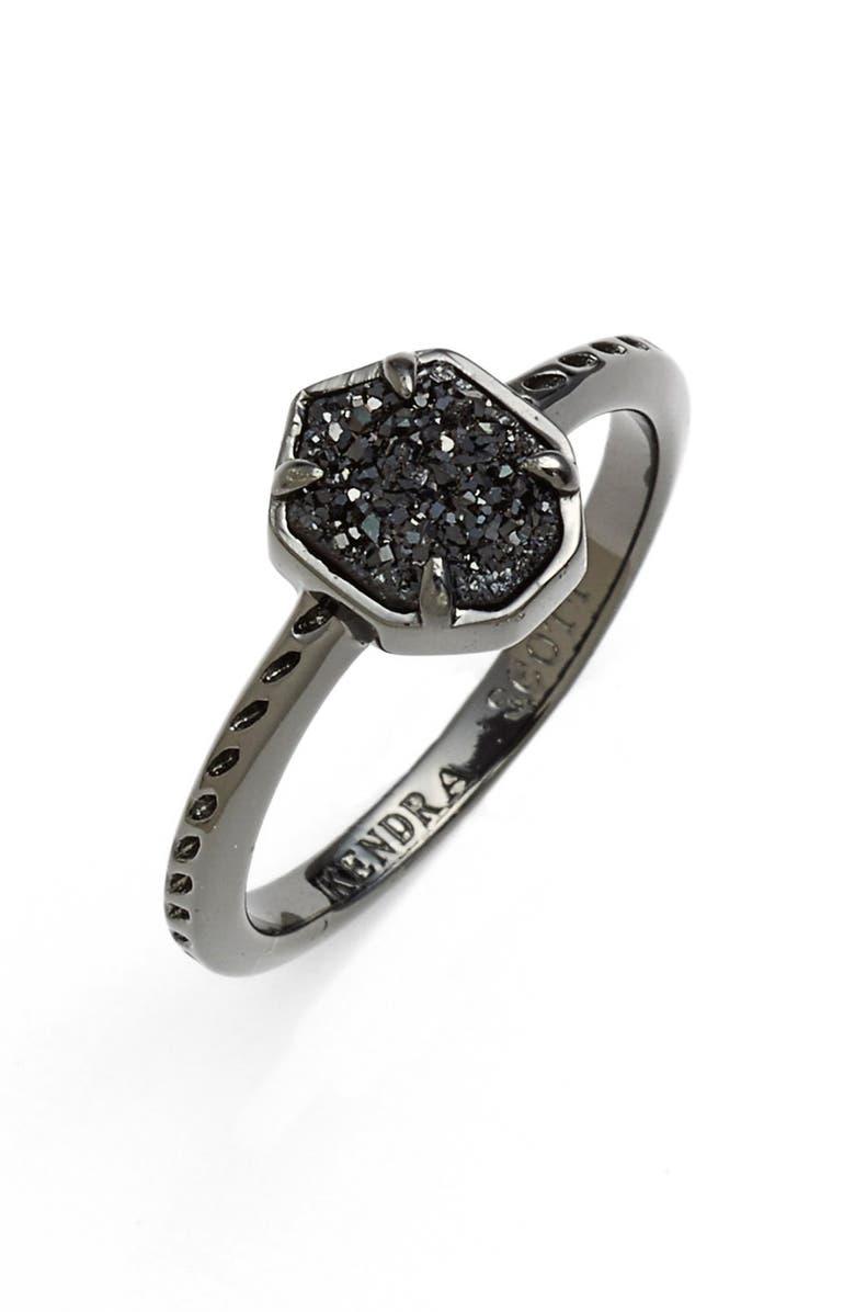 KENDRA SCOTT 'Calvin' Drusy Ring, Main, color, 001
