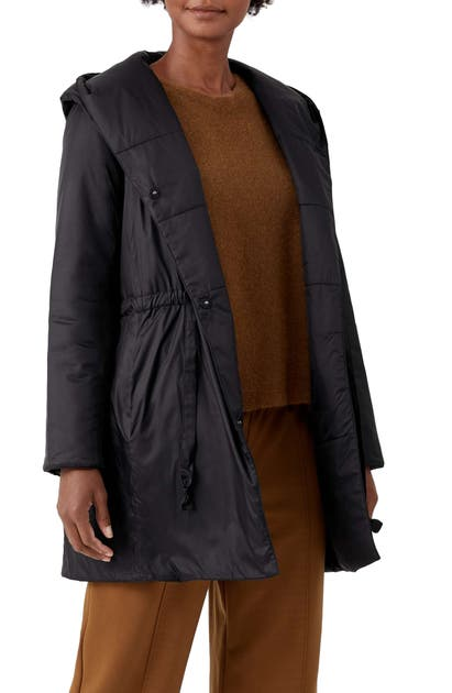 Eileen Fisher HOODED COAT