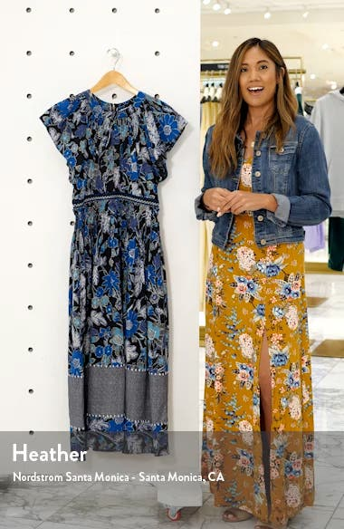 Lottie Floral Print Midi Dress, sales video thumbnail