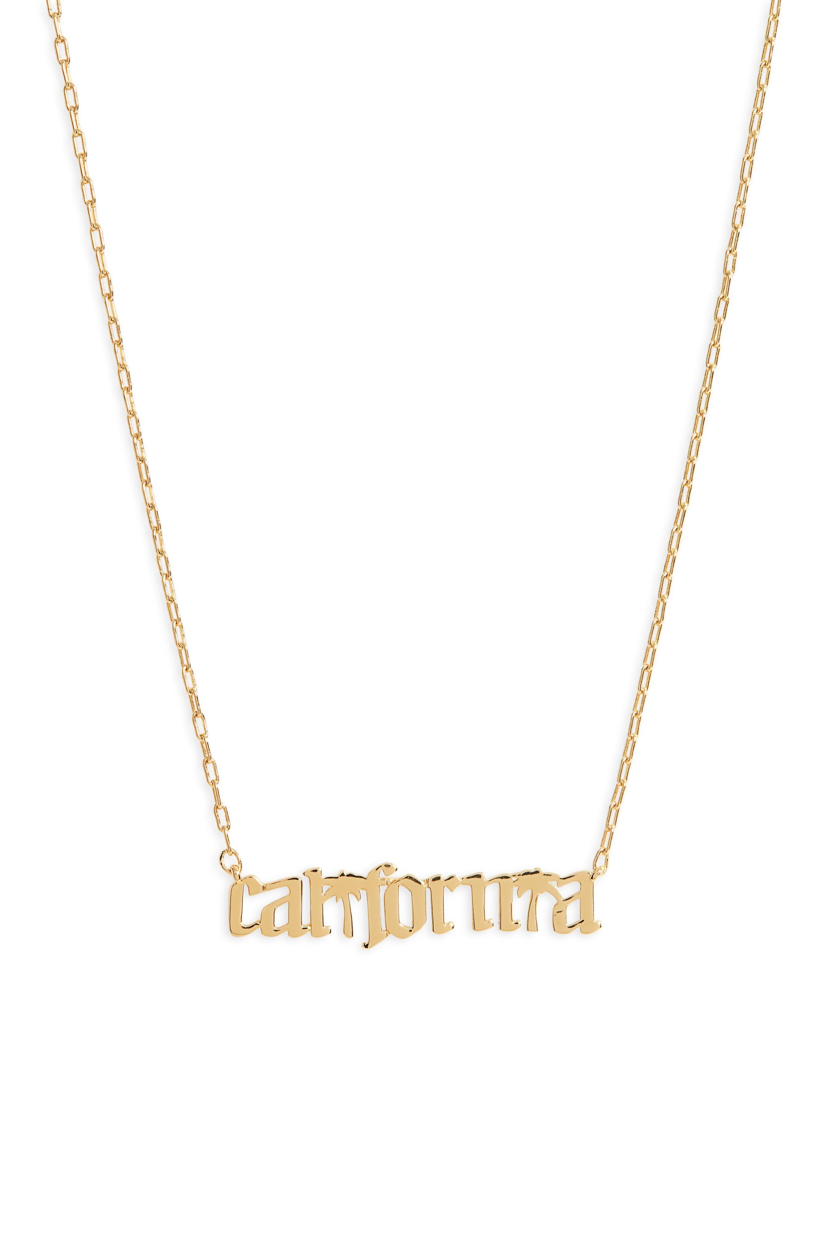 California Script Pendant Necklace