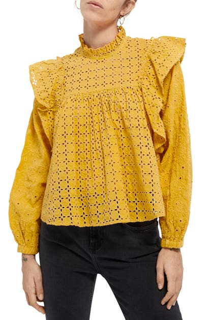 Scotch & Soda EYELET TOP