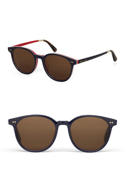 Image of TOMS Bellini Polarized 52mm Round Sunglasses