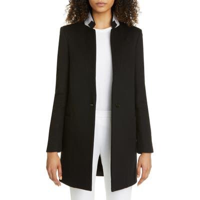 Stella Mccartney Double Face Wool Long Blazer, US - Black