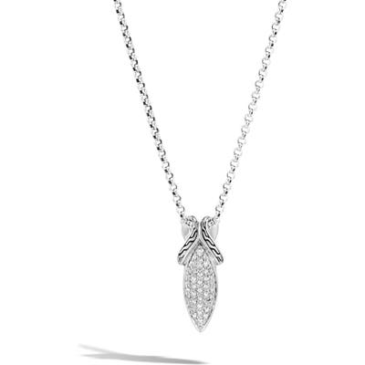 John Hardy Asli Classic Chainlink Pave Pendant Necklace