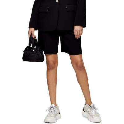 Topshop Clean Crepe Shorts, US - Black