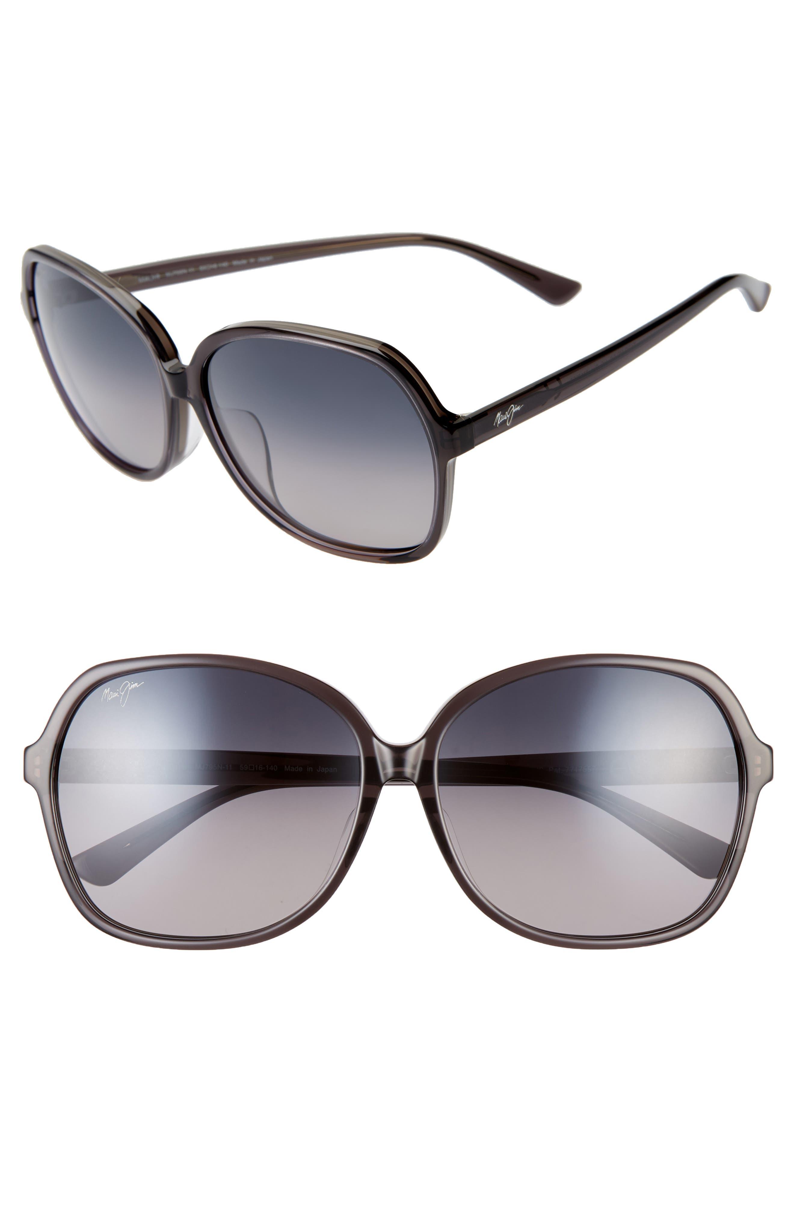 37377371b52b Maui Jim Taro 5m Polarizedplus2 Round Sunglasses - Translucent Grey/ Neutral  Grey