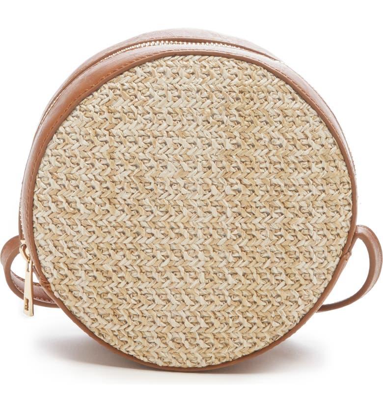 SOLE SOCIETY Apryl Circle Crossbody Bag, Main, color, NATURAL COMBO
