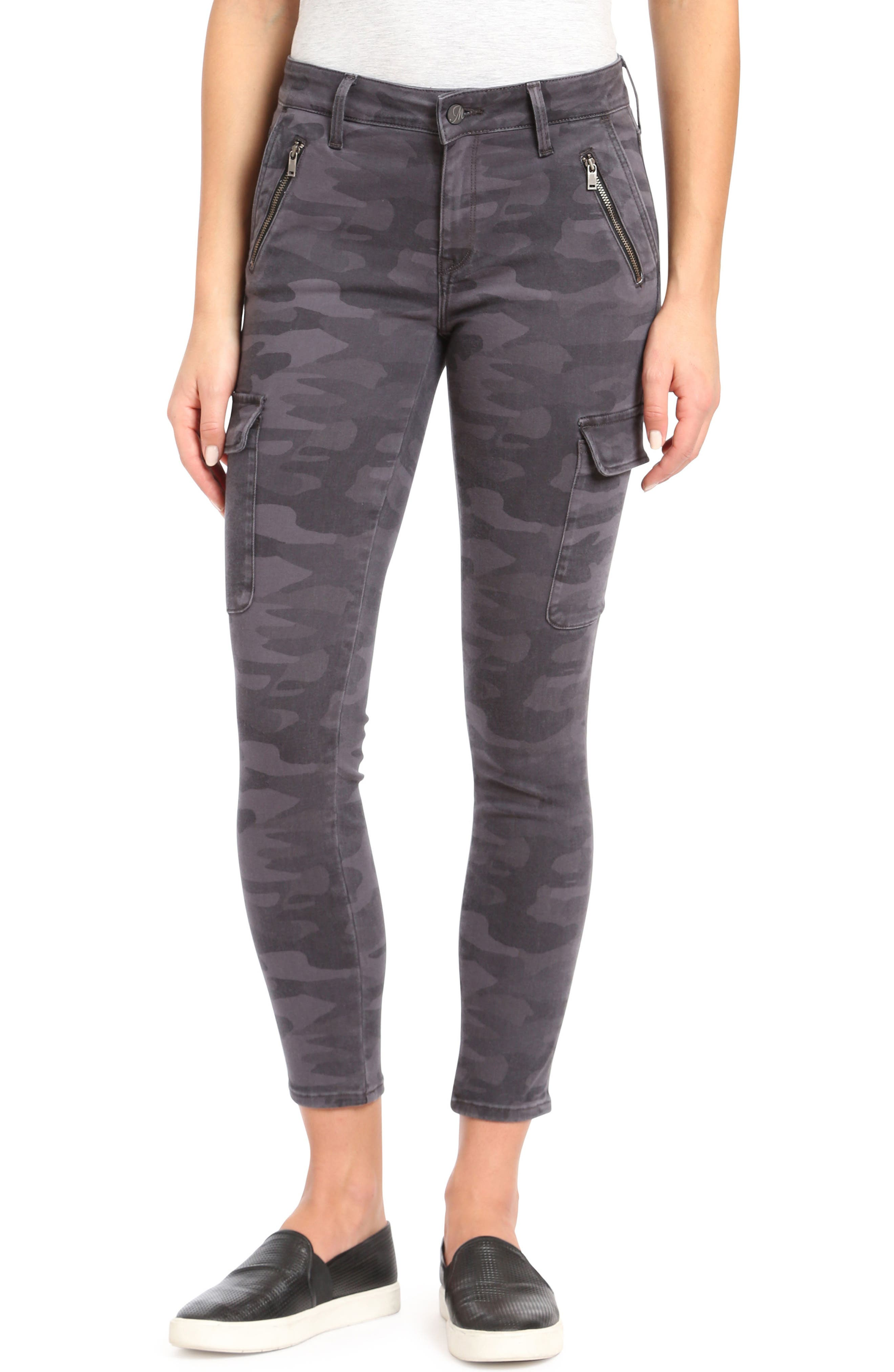 Juliette Camo Skinny Cargo Pants, Main, color, 020