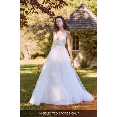 Marchesa Notte Maylis Embellished Tulle Wedding Dress, Size - Ivory